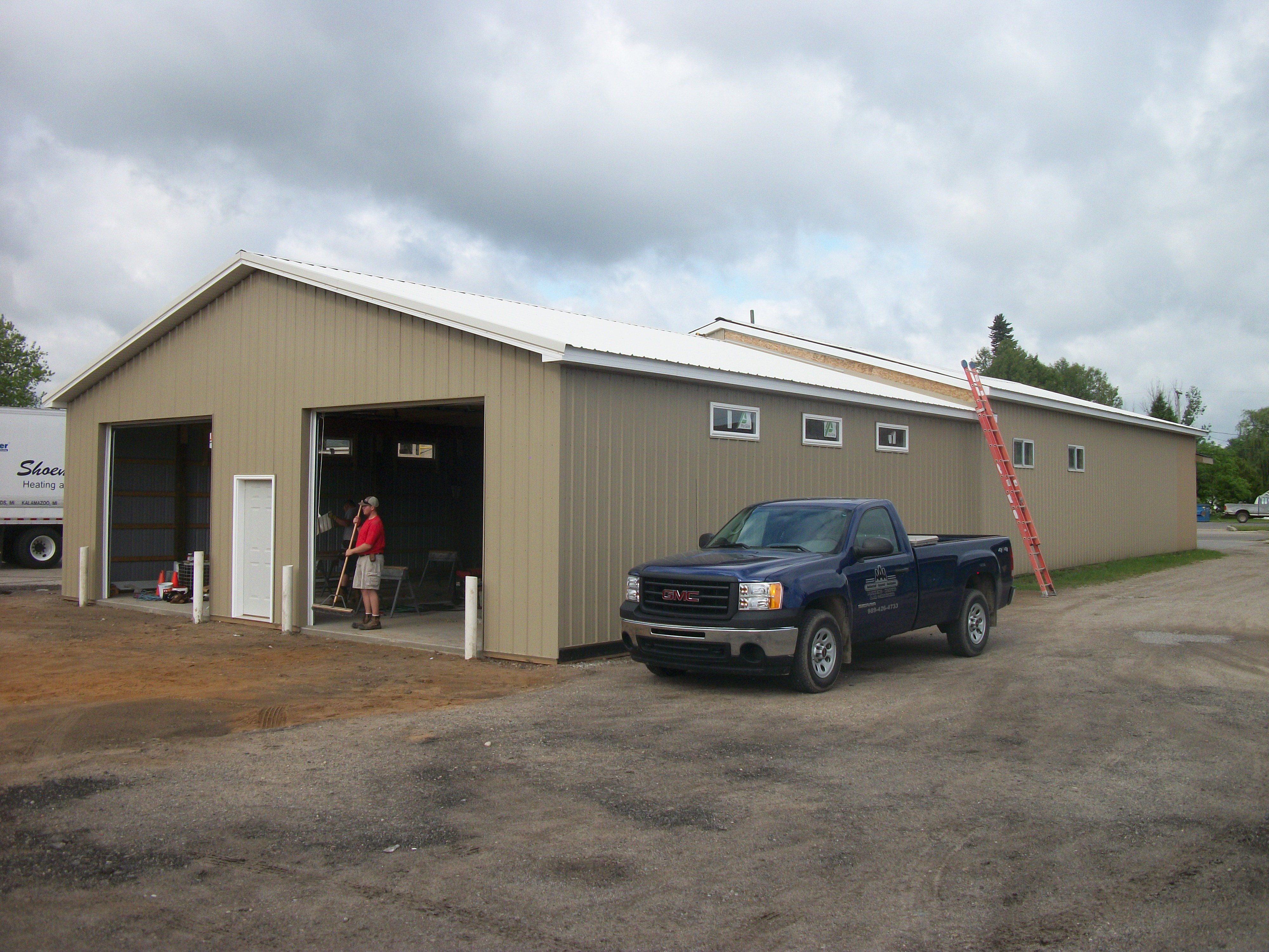 Aaa pole barn addition l dan french builders for Adding onto a pole barn